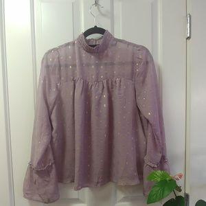🐧3/$25 lavendar Xhilaration blouse